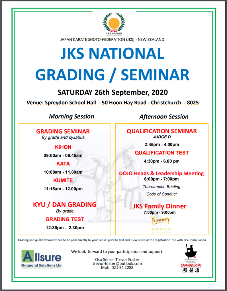 JKS National Grading / Seminar